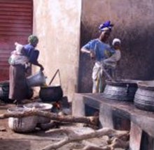 Méthode traditionnelle de préparation du beurre de karité